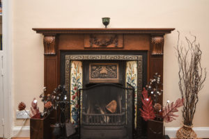 lounge - tiled fireplace